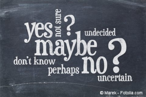 Yes, no, maybe, etc. word cloud