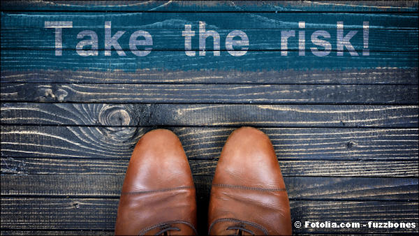 Take the risk message and business shoes