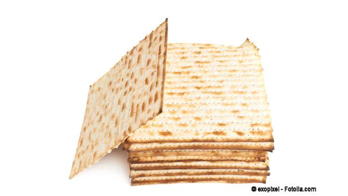 A stack of matza (Jewish unleavened bread)