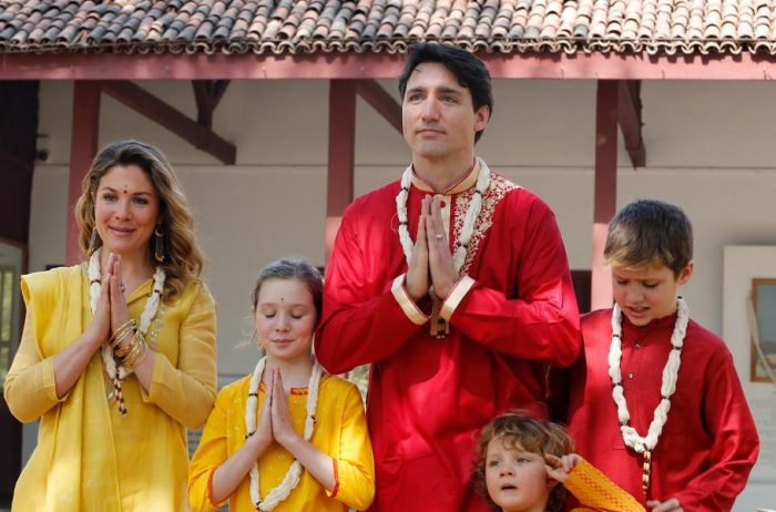 Canadian Prime Minister, Justin Trudeau, & family on an official government trip to India, February 2018