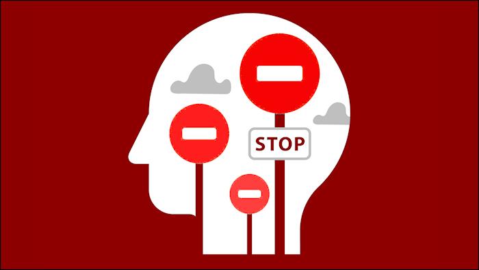 Illustration depicting mental obstacles