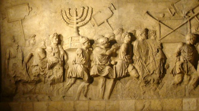 The siege of Jerusalem as depicted on the Arch of Titus in Rome.