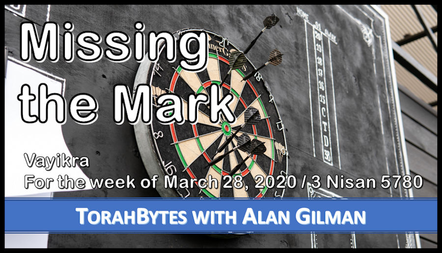 "Title ""Missing the Mark"" on photo of dart board with dart missing the bulls eye"