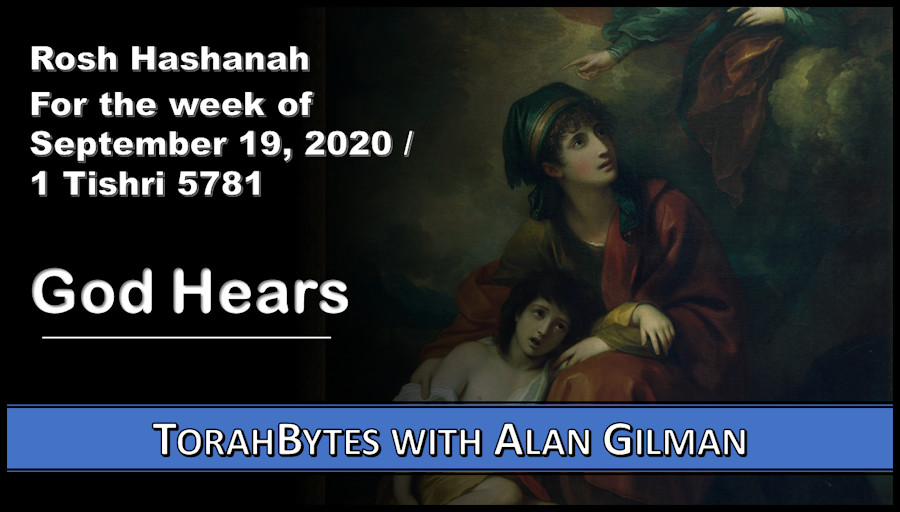 Message information over oil painting of Hagar and Ishmael.