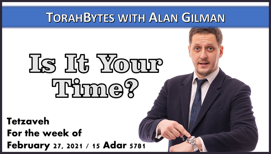 Man in business suit pointing at watch