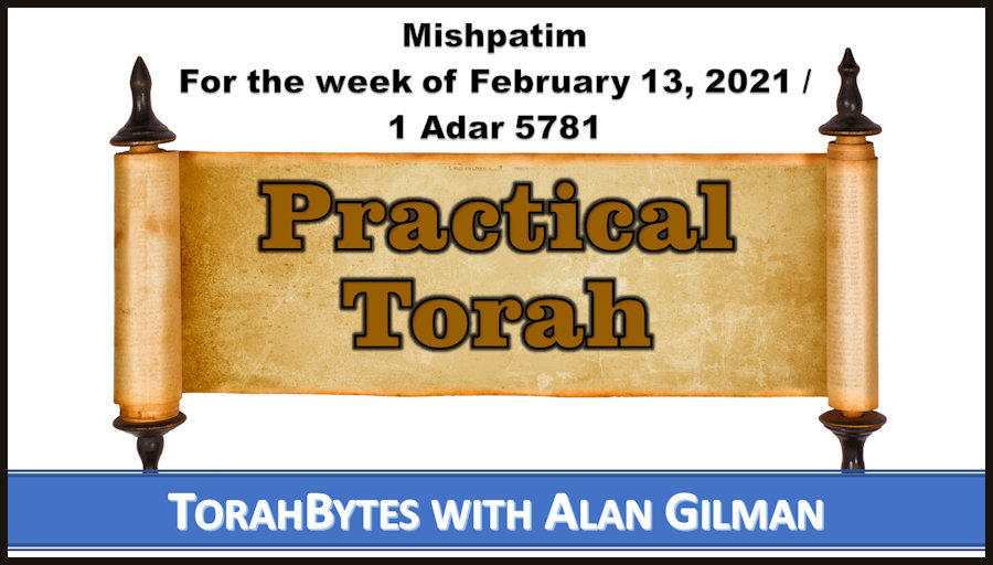 """Illustration of Torah scroll with """"Practical Torah"""" supperimposed"""